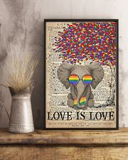 LGBT - Elephant Love Is Love  11x17 Poster lifestyle-poster-3