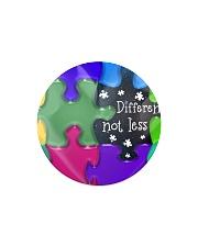 Autism Heart Ornament Circle Magnet thumbnail