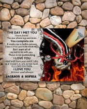 Personalized Fire Fighter And Nurse The Day I Met 17x11 Poster aos-poster-landscape-17x11-lifestyle-15