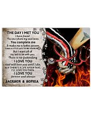 Personalized Fire Fighter And Nurse The Day I Met 17x11 Poster front