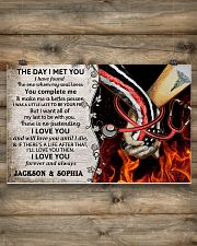 Personalized Fire Fighter And Nurse The Day I Met 17x11 Poster poster-landscape-17x11-lifestyle-14