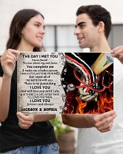 Personalized Fire Fighter And Nurse The Day I Met 17x11 Poster poster-landscape-17x11-lifestyle-20