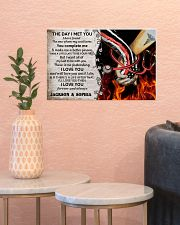 Personalized Fire Fighter And Nurse The Day I Met 17x11 Poster poster-landscape-17x11-lifestyle-21