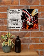 Personalized Fire Fighter And Nurse The Day I Met 17x11 Poster poster-landscape-17x11-lifestyle-23