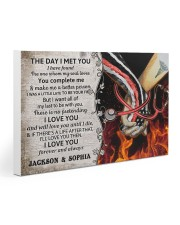 Personalized Fire Fighter And Nurse The Day I Met 30x20 Gallery Wrapped Canvas Prints thumbnail
