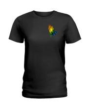 Lgbt Through Christ 2 Sides Ladies T-Shirt tile