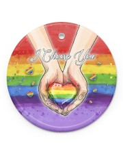 LGBT - I Choose You Circle Ornament Wood Circle ornament - single (porcelain) front