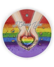 LGBT - I Choose You Circle Ornament Wood Circle Ornament (Wood tile