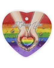 LGBT - I Choose You Circle Ornament Wood Heart Ornament (Wood) tile