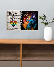 LGBT - Dragon This is Us Poster 17x11 Poster poster-landscape-17x11-lifestyle-24