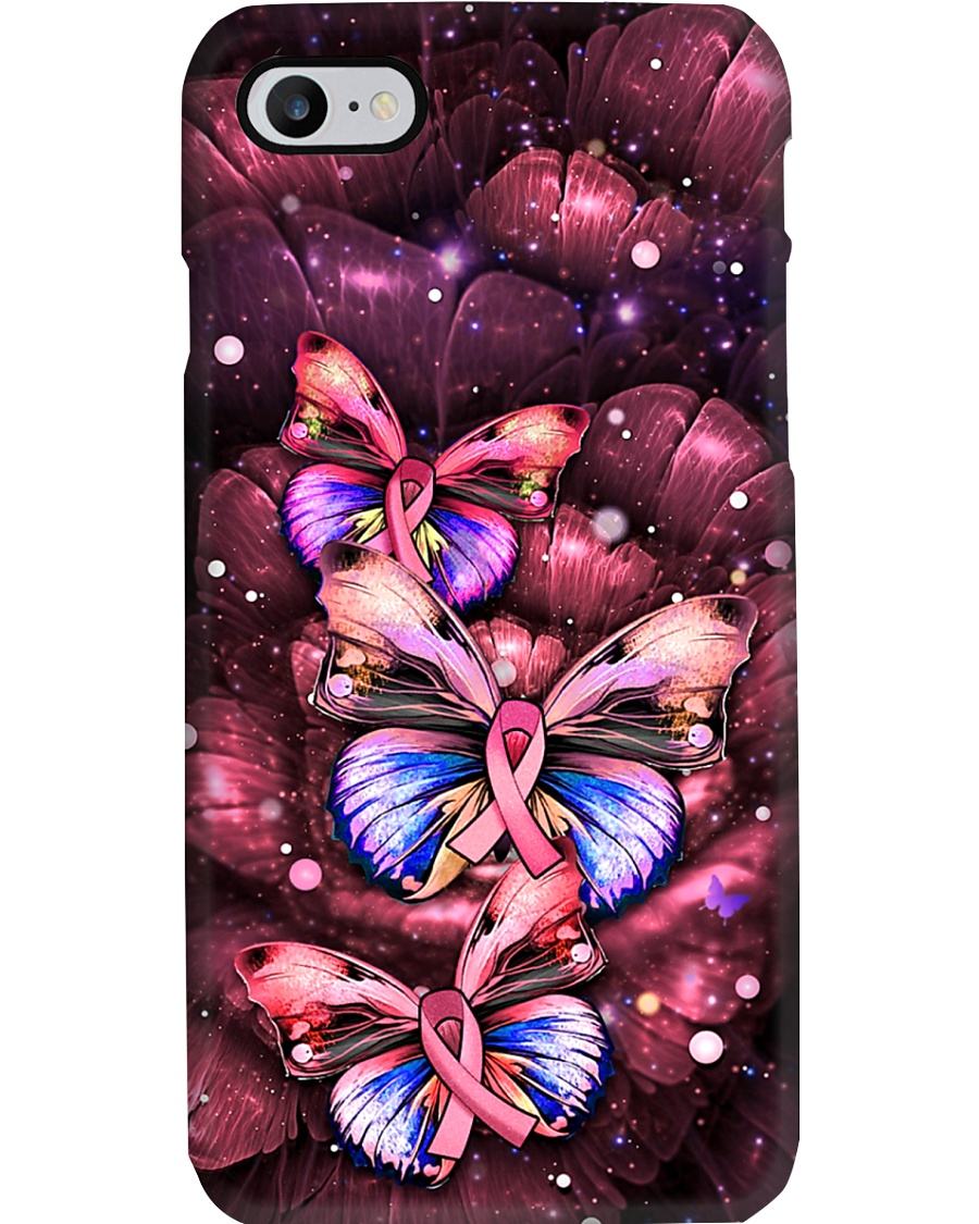 Breast Cancer Butterfly Ribbon Phonecase Phone Case