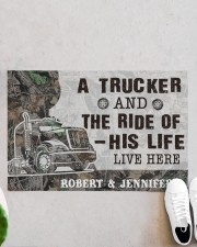 """Personalized A Trucker And The Ride Of His Life Doormat 22.5"""" x 15""""  aos-doormat-22-5x15-lifestyle-front-06"""