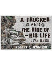 """Personalized A Trucker And The Ride Of His Life Doormat 22.5"""" x 15""""  front"""