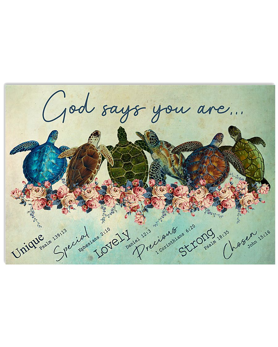 Turtle God Say You Are 17x11 Poster
