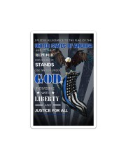 Back The Blue Eagle Canvas  Sticker - Single (Vertical) thumbnail