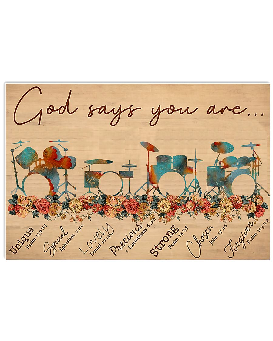 Drums God Says You Are 17x11 Poster