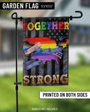 "LGBT - Home Of The Brave Flag 11.5""x17.5"" Garden Flag aos-garden-flag-11-5-x-17-5-lifestyle-front-11"