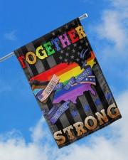 "LGBT - Home Of The Brave Flag 11.5""x17.5"" Garden Flag aos-garden-flag-11-5-x-17-5-lifestyle-front-16"