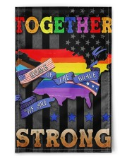 """LGBT - Home Of The Brave Flag 11.5""""x17.5"""" Garden Flag front"""