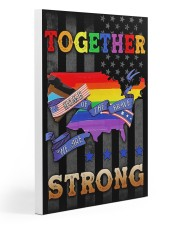 LGBT - Home Of The Brave Flag 20x30 Gallery Wrapped Canvas Prints thumbnail