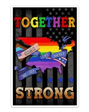LGBT - Home Of The Brave Flag Sticker - Single (Vertical) thumbnail