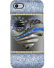 Police Back The Blue Rose Phone Case i-phone-8-case