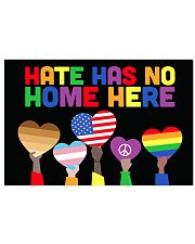 LGBT - Hate - No Home Poster Custom 17x11 Poster front