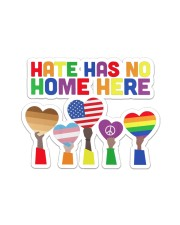 LGBT - Hate - No Home Poster Custom Sticker - Single (Horizontal) thumbnail