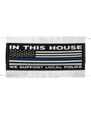 Police - In This House Yard Sign Cloth face mask thumbnail