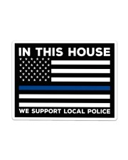 Police - In This House Yard Sign Sticker - Single (Horizontal) thumbnail