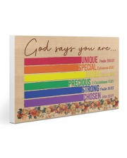 LGBT God Says You Are 30x20 Gallery Wrapped Canvas Prints thumbnail