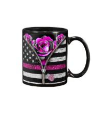 Breast Cancer Roses Mug tile