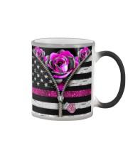 Breast Cancer Roses Color Changing Mug tile
