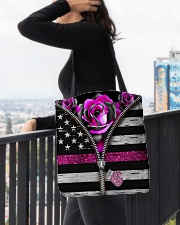 Breast Cancer Roses All-over Tote aos-all-over-tote-lifestyle-front-05