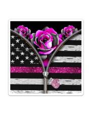 Breast Cancer Roses Sticker tile