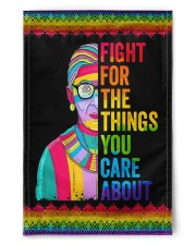 "LGBT Fight For The Things You Care Flag 11.5""x17.5"" Garden Flag front"