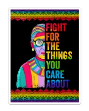 LGBT Fight For The Things You Care Flag Sticker - Single (Vertical) thumbnail