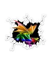 Dragon LGBT Crack Sticker - Single (Vertical) front