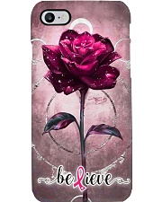 Breast Cancer Believing Rose  Phone Case i-phone-7-case