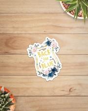 Back The Blue Flower Sticker - Single (Vertical) aos-sticker-single-vertical-lifestyle-front-07