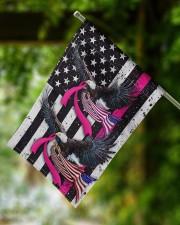 """Breast Cancer Eagles Flag 11.5""""x17.5"""" Garden Flag aos-garden-flag-11-5-x-17-5-lifestyle-front-15"""