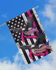 """Breast Cancer Eagles Flag 11.5""""x17.5"""" Garden Flag aos-garden-flag-11-5-x-17-5-lifestyle-front-16"""