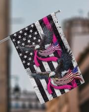 """Breast Cancer Eagles Flag 11.5""""x17.5"""" Garden Flag aos-garden-flag-11-5-x-17-5-lifestyle-front-17"""