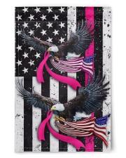 """Breast Cancer Eagles Flag 11.5""""x17.5"""" Garden Flag front"""