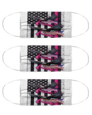 Breast Cancer Eagles Flag Cloth Face Mask - 3 Pack thumbnail