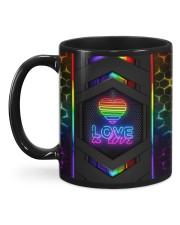 LGBT Love Is Love Neon Mug Mug back
