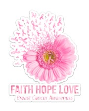 Breast Cancer Faith Hope Love St Sticker - Single (Vertical) front