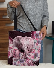 Elephant - Breast Cancer Zip Tote All-over Tote aos-all-over-tote-lifestyle-front-10