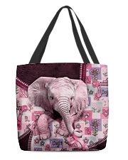 Elephant - Breast Cancer Zip Tote All-over Tote back