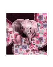 Elephant - Breast Cancer Zip Tote Sticker - Single (Vertical) thumbnail